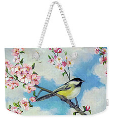 Weekender Tote Bag featuring the painting Spring's Promise by Donna Tucker