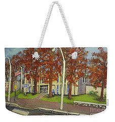 Springtime At Waltham Police Station Weekender Tote Bag by Rita Brown