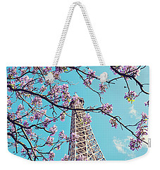 Springtime In Paris - Eiffel Tower Photograph Weekender Tote Bag by Melanie Alexandra Price