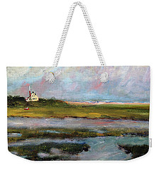Weekender Tote Bag featuring the painting Springtime In The Marsh by Michael Helfen