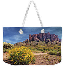 Weekender Tote Bag featuring the photograph Springtime In The Superstition Mountains by James Eddy