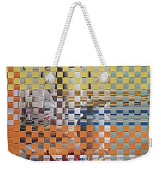Weekender Tote Bag featuring the mixed media Springtime by Jan Bickerton