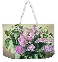Weekender Tote Bag featuring the photograph Springtime Lilacs by Luther Fine Art