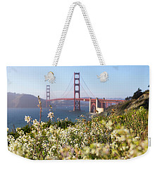 Weekender Tote Bag featuring the photograph Springtime On The Bay by Everet Regal