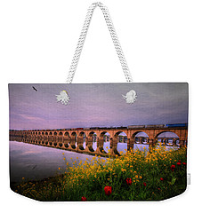 Weekender Tote Bag featuring the photograph Springtime Reflections From Shipoke by Shelley Neff