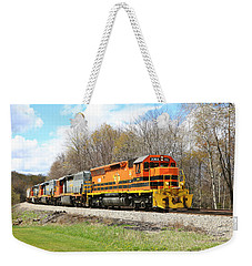 Weekender Tote Bag featuring the photograph Springtime Train by Rick Morgan