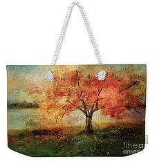 Weekender Tote Bag featuring the digital art Sprinkled With Spring by Lois Bryan