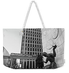 Sprit Of Detroit From Side  Weekender Tote Bag