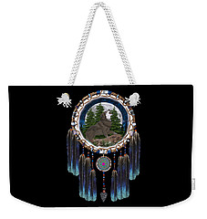 Sprit Of The Wolf Weekender Tote Bag by Walter Colvin