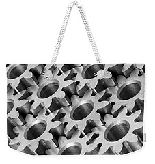 Weekender Tote Bag featuring the photograph Sprockets by Jim Hughes