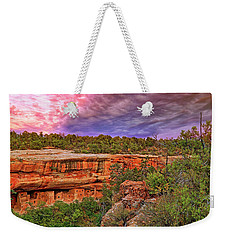 Weekender Tote Bag featuring the photograph Spruce Tree House At Mesa Verde National Park - Colorado by Jason Politte