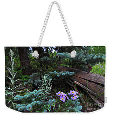 Spruced Up Asters Weekender Tote Bag