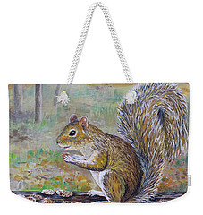 Spunky Squirrel Weekender Tote Bag by Lou Ann Bagnall