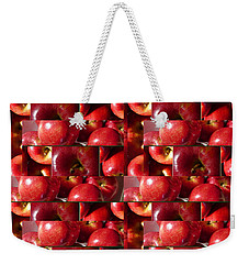 Square Apples Weekender Tote Bag by Tina M Wenger