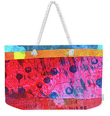 Weekender Tote Bag featuring the painting Square Collage No. 12 by Nancy Merkle