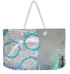 Weekender Tote Bag featuring the painting Square Collage No. 6 by Nancy Merkle