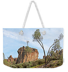 Weekender Tote Bag featuring the photograph Square Rock Formation by Art Block Collections