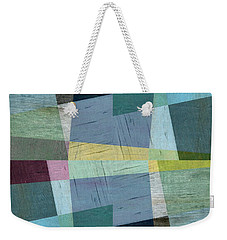 Squares And Shims Weekender Tote Bag by Michelle Calkins