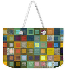 Squares In Squares Five Weekender Tote Bag by Michelle Calkins