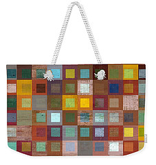 Weekender Tote Bag featuring the digital art Squares In Squares Four by Michelle Calkins