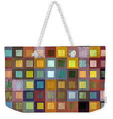 Weekender Tote Bag featuring the digital art Squares In Squares One by Michelle Calkins