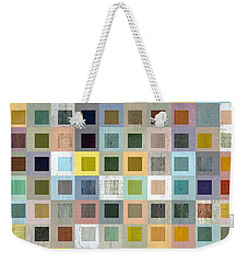 Weekender Tote Bag featuring the digital art Squares In Squares Three by Michelle Calkins