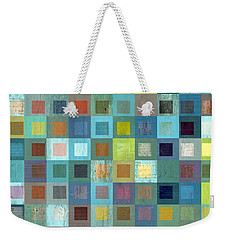 Weekender Tote Bag featuring the digital art Squares In Squares Two by Michelle Calkins