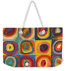 Squares With Concentric Circles Weekender Tote Bag