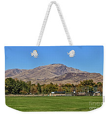 Squaw Butte From Gem Island Sport Complex Weekender Tote Bag