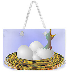 Squeaker Hatching From Eggs Weekender Tote Bag