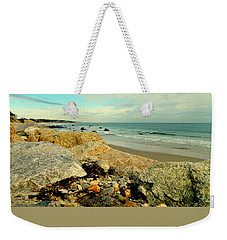 Squibby Cliffs And Mackerel Sky Weekender Tote Bag