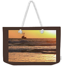 Squid Boat Golden Sunset Weekender Tote Bag