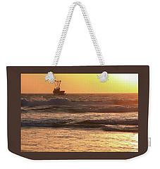 Squid Boat Golden Sunset Weekender Tote Bag