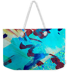 Weekender Tote Bag featuring the painting Squiggles And Stripes by Darice Machel McGuire