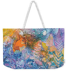 Squirrel Hollow Weekender Tote Bag by Nancy Jolley