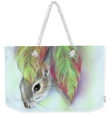 Squirrel In The Autumn Dogwood Weekender Tote Bag