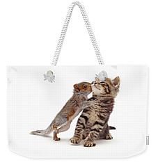 Squirrel Kiss Weekender Tote Bag