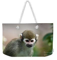 Squirrel Monkey Weekender Tote Bag by Amanda Elwell