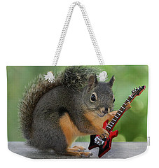Squirrel Playing Electric Guitar Weekender Tote Bag