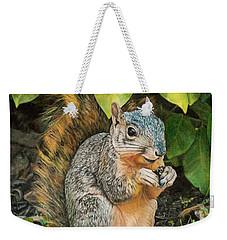 Squirrel Under Bush Weekender Tote Bag