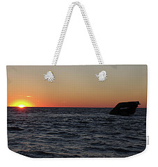 Weekender Tote Bag featuring the photograph S.s. Atlantus At Sunset by Greg Graham