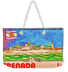 S.s Geestland And House Flag Geest Line Weekender Tote Bag