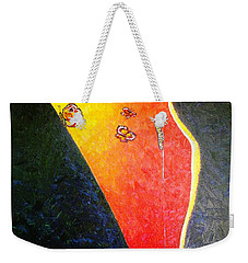 Weekender Tote Bag featuring the painting ss1 by Viktor Lazarev