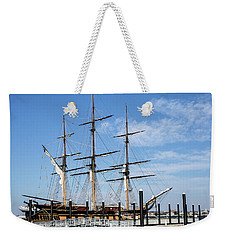 Weekender Tote Bag featuring the photograph Ssv Oliver Hazard Perry by Nancy De Flon