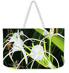 St. Aandrews Spider Flower Family Weekender Tote Bag by Daniel Hebard