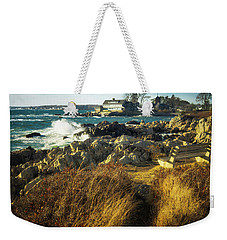 Weekender Tote Bag featuring the photograph St. Anne's Church-kennebunk, Maine by Samuel M Purvis III