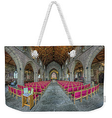 Weekender Tote Bag featuring the photograph St Asaph Cathedral by Ian Mitchell