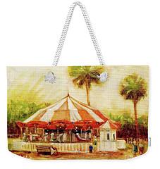 St. Augustine Carousel Weekender Tote Bag by Mary Hubley
