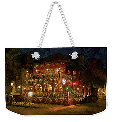 Weekender Tote Bag featuring the photograph  St. Augustine Meehan's Pub by Louis Ferreira