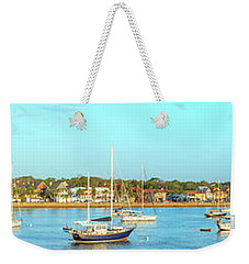 Weekender Tote Bag featuring the photograph St Augustine Panorama by Sebastian Musial